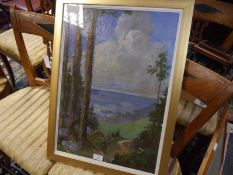 """Max Romer (1878-1960), """"Choupana Madeira"""", signed titled and dated 1954, oil on canvas, framed. 56cm"""