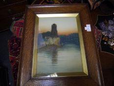 Hans Jacob Hansen R.S.W. (1853-1947), The Port of Dordrecht, signed lower left, watercolour, framed.