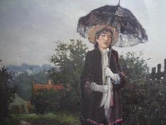 Henricus Gerardus de Korte (Dutch, b. 1941), Melancholy Walk, signed, oil on canvas, framed. 88cm by