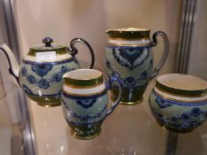 James MacIntyre & Co four piece tea service, c. 1910, comprising teapot hot water jug (lacking
