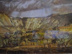 Tom Shanks R.S.W., R.G.I., ( b. 1921), Corrie of Balglas, Stirlingshire, signed and titled, gouache,