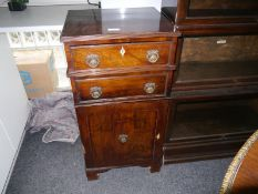 19th century mahogany cabinet, the rectangular top with reeded edge above two simulated drawer