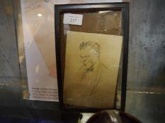 "George Loraine Stampa (British, 1875-1951), ""I Always Flatter My Sitter"", a pencil sketch of a"