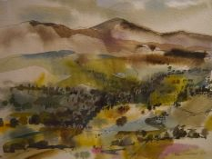Ken Lochead (Scottish, Contemporary), Wooded Landscape, signed lower right and dated (19)74, ink and