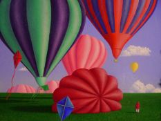 """Steve Easby (b. 1958), """"Towards the Flight I"""", signed and inscribed top left and dated 1987, oil"""