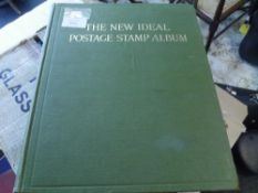 New Ideal Postage Stamp album with British Empire collection