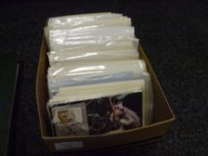 A box containing GB and World picture stamp cards etc (48)