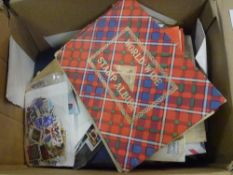 A box of mixed GB and World stamps albums covers pages etc (12)