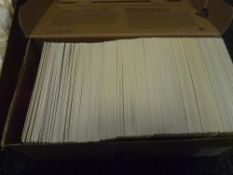 A box of GB post office stamp cards mint and used, with stamps (c 500 cards) (3)