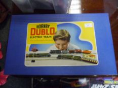 A Hornby Dublo passenger train set, Silver King B.R., in original box with contents