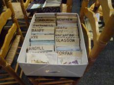 A large quantity of postcards of Scottish topographical views