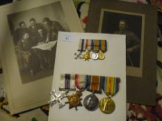 A First World War medal group comprising the Military Cross with ribbon and inscribed to Lt W F G