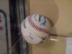 A player-signed Major League baseball, l signatures including Frank Viola