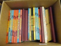 A group of 1980s/90s annuals including The Beano, Beezer, Oor Wullie etc