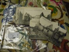 A group of approximately 25 French black and white First World War postcards largely relating to the