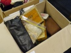 A box of collectables including loose GB and World stamps and First Day Covers, Kenlock Skylight