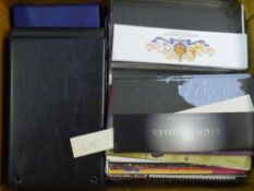 A box of empty presentation packs and binders (30)