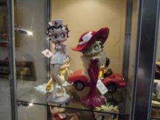 Two Betty Boop composition figures Nurse and Madame by Fleischer