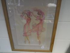 Ballerinas, a limited edition lithograph ed. 38/150, framed.