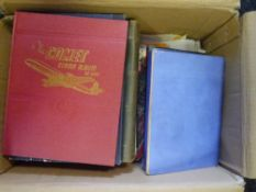 A box containing a large quantity of world albums some pages of stamps etc (17)
