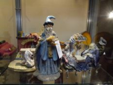 "A group of composition fantasy figures including ""The Crystal Gazer"" by Hap Henriksen, Unicorn"