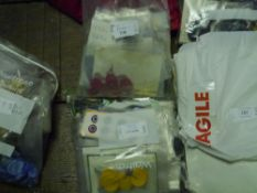 Two bags of early to mid 20th century plastic, shell and acrylic buttons in varying bold colours