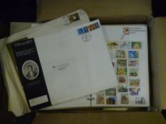 A box containing a quantity of albums of world stamps mixed covers etc (20)