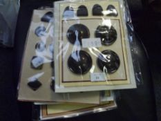 Seven packets of vintage tortoiseshell, faux tortoiseshell, horn and wooden buttons