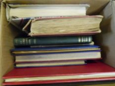 A box containing seven GB and World stamp albums and two stockbooks (13)