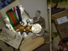 A group of World War II medals to Capt G E Radford in War Office box with certificate comprising The