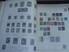 The Century Postage Stamp album with an early collection including Penny Black