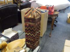 A North African bag mounted on a stand