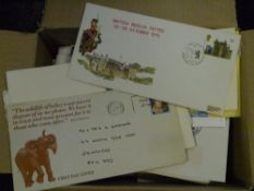 A box of mixed GB covers and First Day Covers (32)