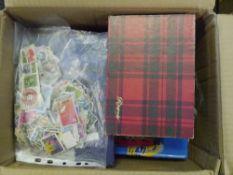 A box of mixed GB and World stamps albums covers etc (11)