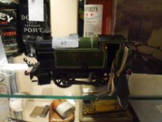 A Hornby 101 series tinplate clockwork locomotive LNER 460 with key