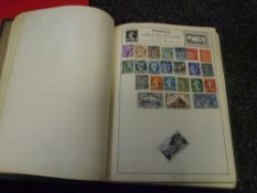 A World stamp collection in green Movaleaf album with additional Gibraltar pages (50)