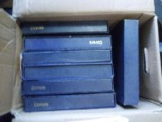 Seven large size First Day Cover albums with slip cases