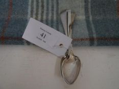 Three 19th century Scottish Provincial silver teaspoons, Aberdeen marks: John Leslie c. 1800;