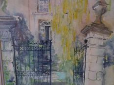 Dorothy Duff (Scottish, 20th Century), Belleview House Cromarty, signed lower right, mixed media,