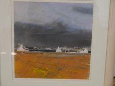 Anne Gordon (Scottish b. 1941), Storm Clouds, signed lower right, pastel, Torrance Gallery Edinburgh