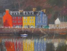 G.Lobo (Continental, 20th Century), Tobermory Harbour, signed lower right, oil on board, framed.