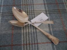 Two early 19th century Scottish provincial spoons comprising: an Old English pattern table spoon,