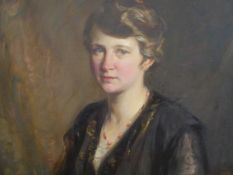 Robert Hope R.S.A. (Scottish 1869-1936), Portrait of a Lady in a Coral Necklace, signed lower