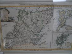 A coloured engraved map of Orkney, Caithness, Sutherland, Ross & Cromarty, from Walpoole's New &