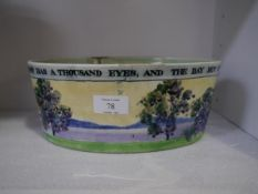 Constance Kirkwood, a Scottish Art Pottery planter c. 1930, of oval form, painted with blossoming