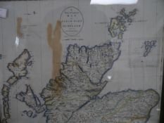 A New & Correct Map of the North Part of Scotland, engraved map after John Cary, pub. John