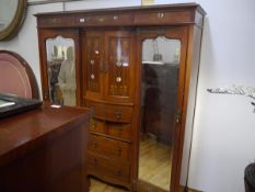A Shapland & Petter, Barnstaple inlaid mahogany wardrobe c. 1910 with inlay in the Glasgow style ,