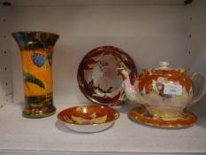A group of Scottish Britannia Pottery Scotch Ivory lustre ware, c. 1920/30 comprising: a Santoi