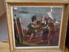 Scottish School, 19th Century, Mary Queen of Scots Escaping from Lochleven Castle, oil on canvas,