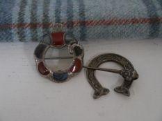 A silver penannular brooch, George and John Morgan (Highland Home Industries), Edinburgh 1947;